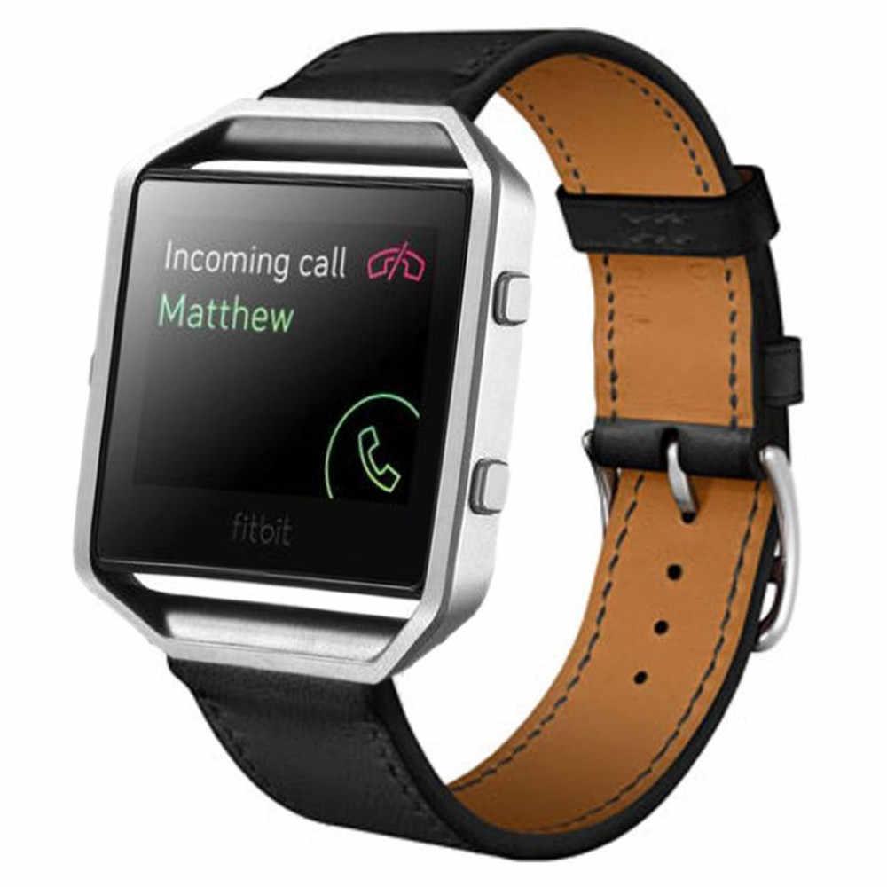 שעון באיכות גבוהה רצועת עור מפוצל רצועת השעון עבור Fitbit Blaze חכם שעון להקת רצועת יד
