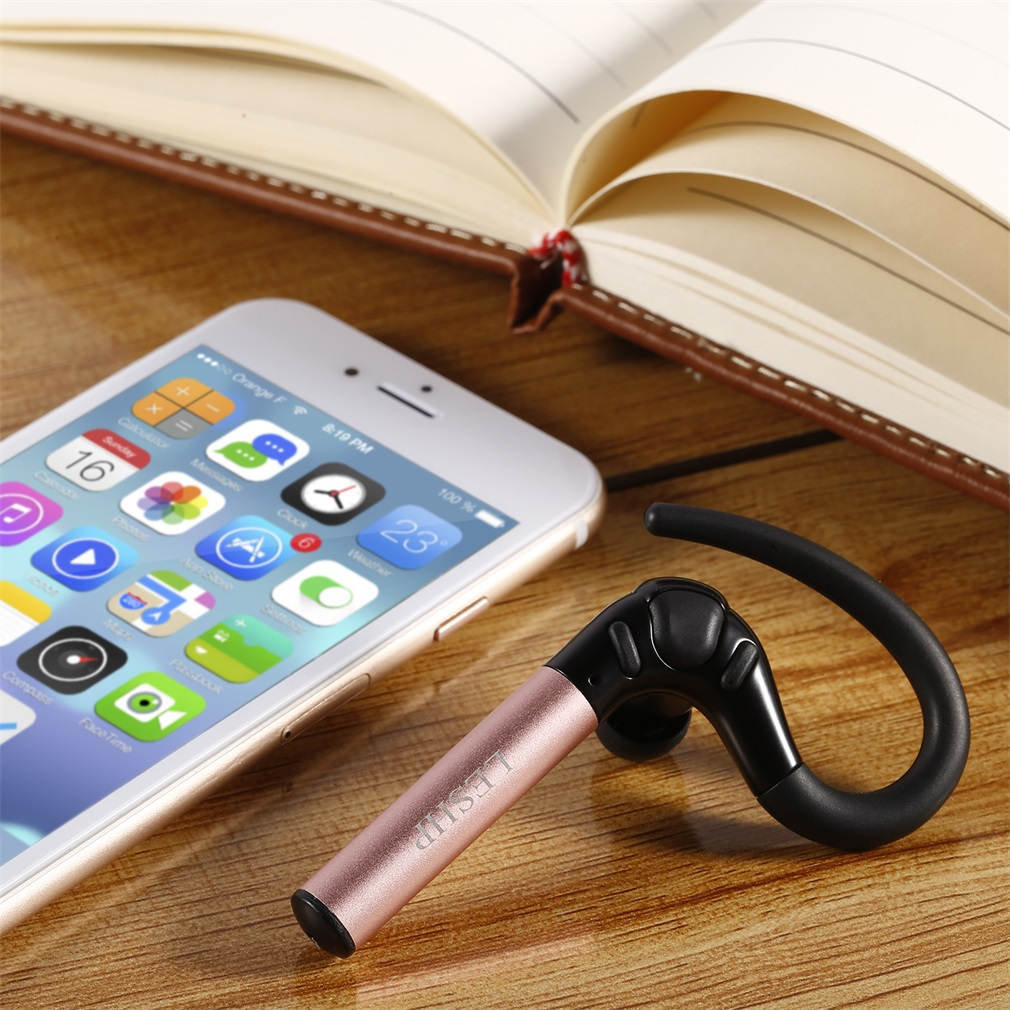 LESHP Headset Wireless Earphone HD Stereo Headphone Handsfree Car Earphones Support A2DP Music Playback