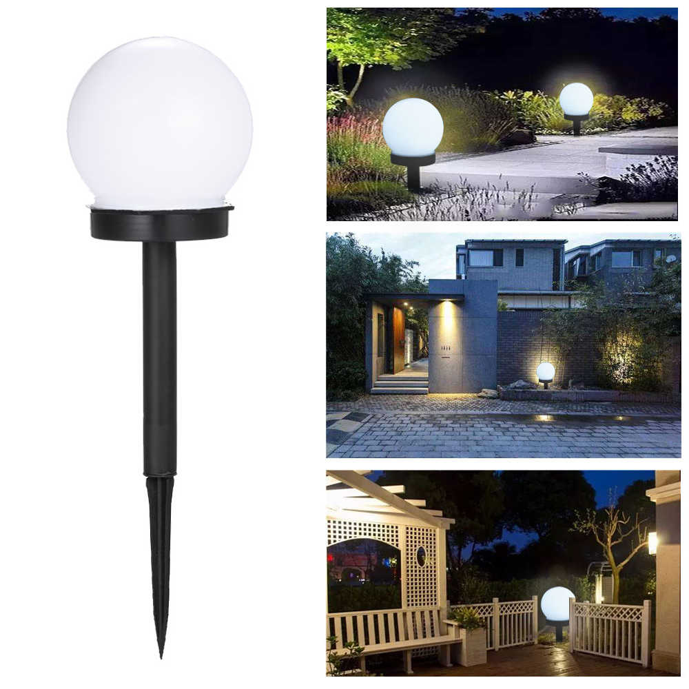Ball Shape Solar Powered Garden Lamp Solar Led Outdoor Lighting Lamps Waterproof Street Yard Path Stairs Lawn Decoration Light Aliexpress