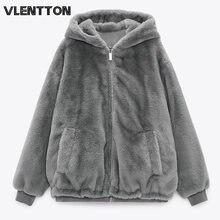Новое зимнее толстое Женское пальто из искусственного меха повседневная