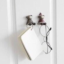 Sundries Wall Hook Cartoon Animal Power Cord Home Resin Strong Mobile Phone Bracket For Living Room Bedroom