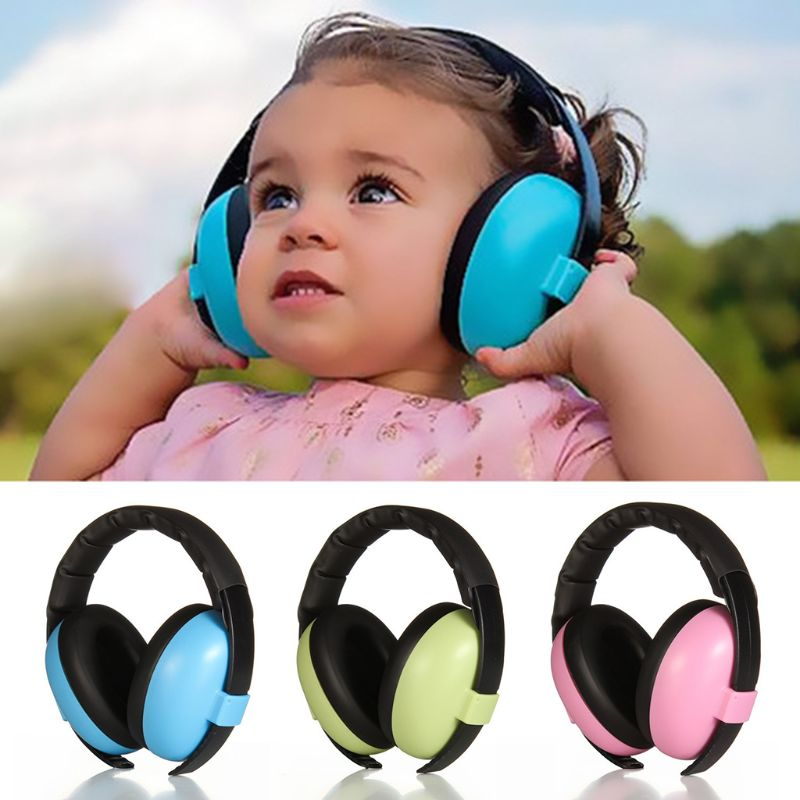 Child Baby Hearing Protection Safety Ear Muffs Kids Noise Cancelling Headphones image