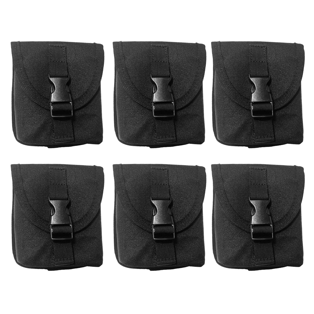 6pcs Durable Diving Weight Pocket Strong Replacement Dive Belt Pouch Pack