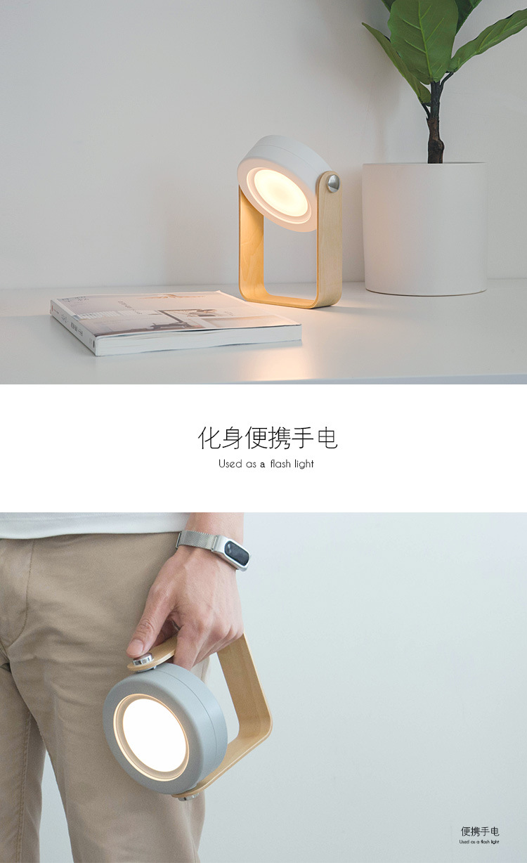 H42bb91fa8f5d455da7c0af4ede2ecce0W - Creative Foldable Lantern Table Lamp Portable USB Charger Touch Switch Eye Protect Lamp Desk LED Reading Study Bedroom Lights