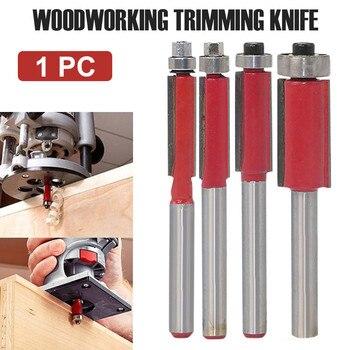цена на hot sale 1/4Shank Flush Trim Bits Set Top End Bearing Router Cutting Diameter Milling Woodworking Tool