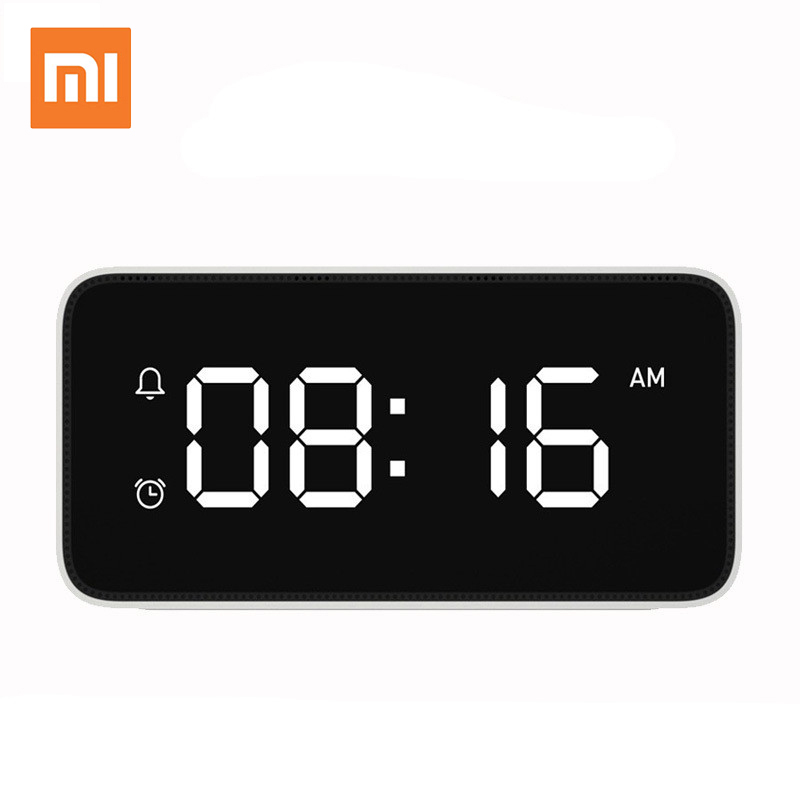 Xiaomi mijia Xiao Love Smart Alarm Clock Voice Broadcast Clock ABS Table Dersktop Clocks AutomaticTime Calibration Mi Home App image