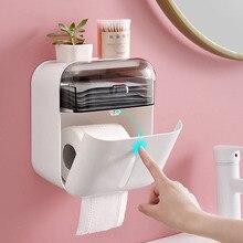 Ванная комната водонепроницаемый тканевый ящик настенный пластиковый держатель рулона туалетной бумаги полка для хранения, коробка лоток двойной слой салфетки организовать