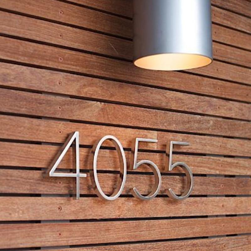 12cm srebrny numer domu znak #0-9 litery alfabetu 5 cali. Dash Slash Signage numery drzwi do domu adres zewnętrzny Numeros Puerta