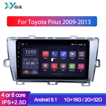 Android Car multimedia player GPS Navigation system for 2009-2013 Toyota Prius LHD radio audio stereo accessories Bluetooth 1din image