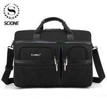Портфель Scione мужской/женский для ноутбука, офисный саквояж на плечо, мешок кросс боди, сумочка для офиса
