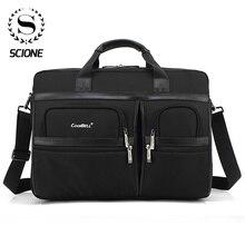 Scione男性ラップトップブリーフケース事務所バッグ男性女性ラージショルダークロスボディバッグオフィスハンドバッグ