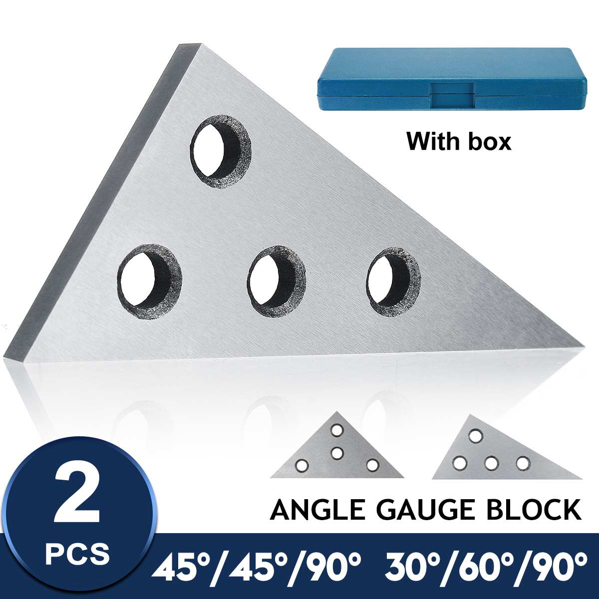 10pcs Precision Angle Blocks Set 1 to 30 Degree with Storage Case