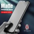Закаленное стекло для iphone 12 pro max, матовое стекло для iphone 12, 11 pro, xs max, x, xr, 6, 7, 8 plus, защитная пленка для экрана iphone12, 2 шт.