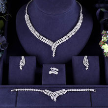 Hotsale African 4pc Bridal Jewelry Sets New Fashion Dubai Necklace Sets For Women Wedding Party Accessories Design(China)