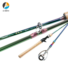 AI-SHOUYU Solid Tip L Power Trout Lure Rod Light Weight 1.8m 1.98m 2.1m Fast Action 2-10g 2-8lb Carbon Spinning/Casting Rod Pole