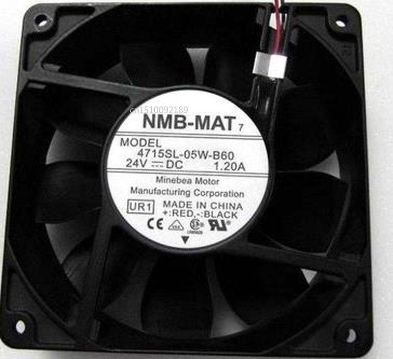 For 4715SL-05W-B60 24V 1.20A 12038 2 Line Inverter Fan Aluminum Frame Waterproof Fan Free Shipping