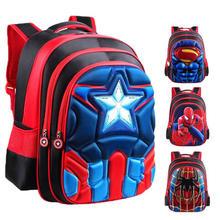 School-Bags Backpacks Satchel Knapsack Waterproof Kids Child Boys 3D for 3-12-Year-Old