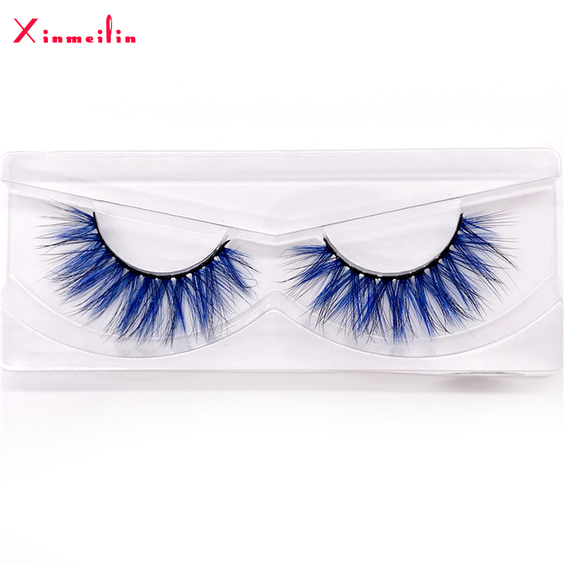 New 9D Faux Mink Color Lashes Wholesale Natural Long Fluffy Individual Dramatic Colorful False Eyelashes Makeup Extension Tools