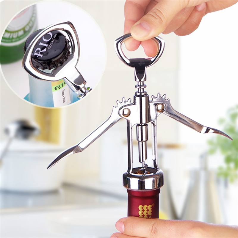 Portable Stainless Steel Red Wine Opener Waiter Metal Wine Corkscrew Bottle Handle Opener Screw Wine Bottle Opener Kitchen Tools|Openers|   - AliExpress