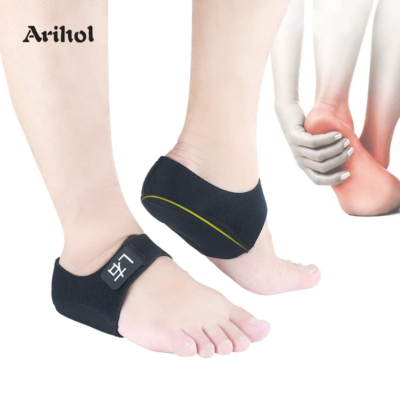 Gel Heel Pad Pain Relief For Plantar Fasciitis Sock Worn In Shoes Thin Heel Spur Foot Skin Care Protectors Heel Sleeves
