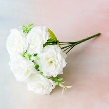 29cm  Artificial Flowers Rose Silk for Crafting 7cm Big Head Low Price Wedding Decoration Valentine