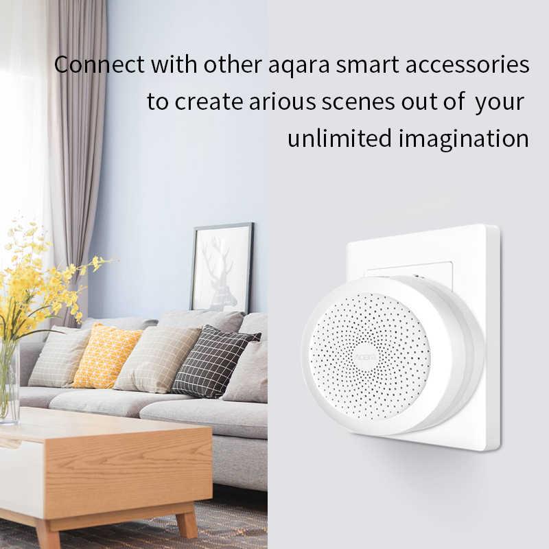 Aqara Hub ağ geçidi 3 için Xiaomi Mi ev App Mijia akıllı ev Zigbee kontrol kapı sensörü ile çalışmak Apple Homekit