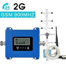 Walokcon Mini GSM Repeater 900MHz Handy GSM 900 Signal Booster Verstärker + Yagi Antenne + 10m kabel Mit LCD Display