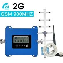 Walokcon Mini GSM Repeater 900MHz telefonu komórkowego telefon GSM 900 sygnału wzmacniacz + antena Yagi + 10m kabel z wyświetlaczem LCD