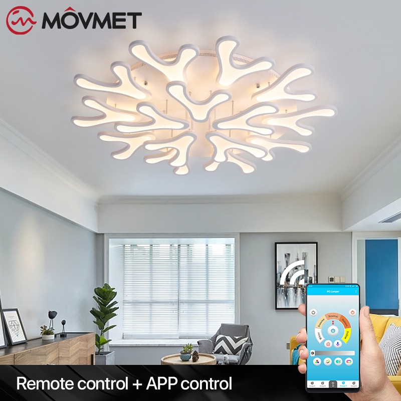 Surface Mounted Modern LED Ceiling Lights White Lamps Fixture With Remote Control Lampa Plafon Plafondlamp