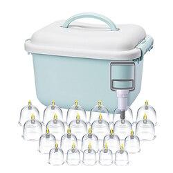 Вакуумный массажер для тела в виде банок Ventosa всасывающие чашки и кувшин комплект Пластик вакуумным отсосом, банки для терапии Набор банок д...
