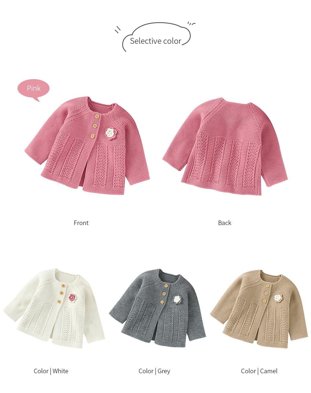 Bebê camisolas cardigans outono floral recém-nascido meninas