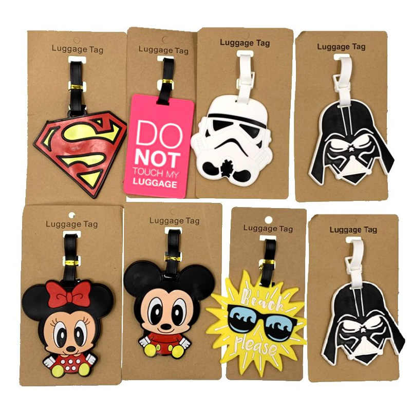 Animal Cartoon Star Wars Bagage Tags Reizen Accessoires Silicagel Koffer Id Addres Houder Bagage Boarding Draagbare Label
