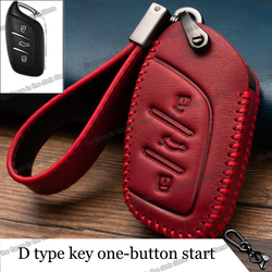 Lsrtw2017 cowl leather car key cover case bag for Mg Hs zs 2017 2018 2019 2020 Accessories Parts keychain ev bose 6 3 gt gs
