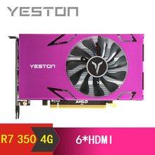 Yeston Radeon R7 350 GPU 4GB GDDR5 128bit Gaming Desktop computer PC Video Graphics Karten unterstützung HDMI X6 verwenden gleichzeitig