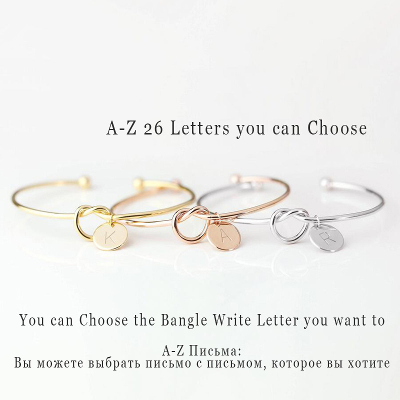 A-Z-26-Letters-Knot-Initial-Bracelets-Bangles-Initial-Charm-Bracelet-Girls-Love-Personalized-Bangles-for