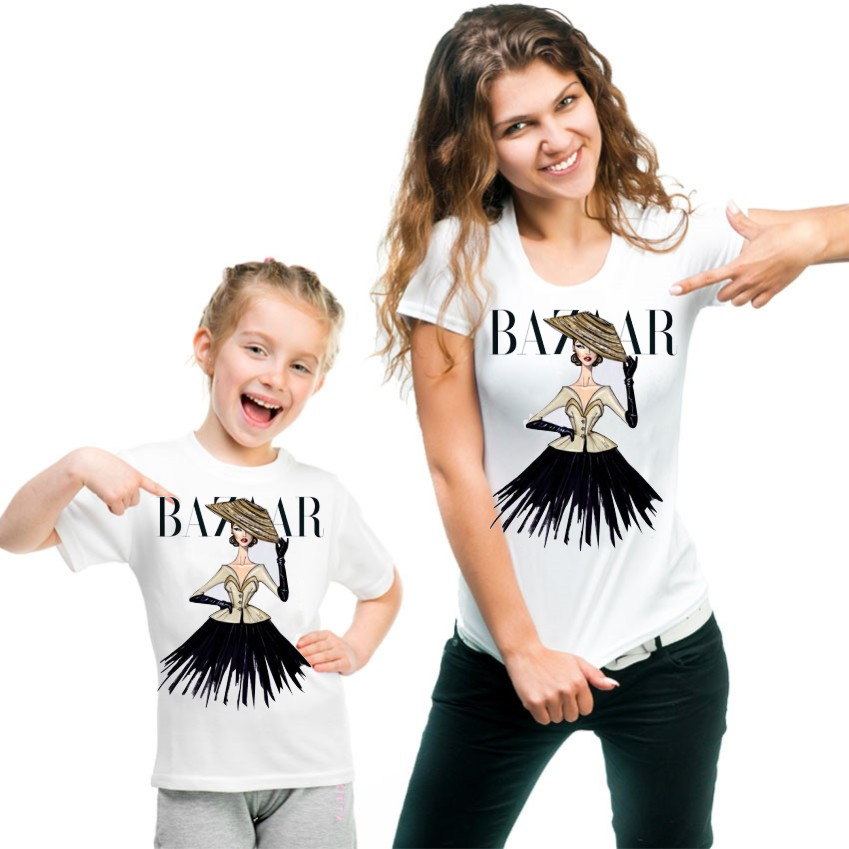 Mom and Daughter Matching Women Mother Kids Baby Girl T Shirts CT-1911