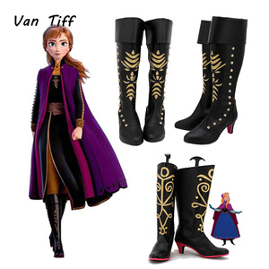 Image 1 - Adult Elsa Shoes Winter Cosplay Queen Elsa Shoes Anna Boot Princess Girl Princess Queen Shoes Boot High Boots For Women