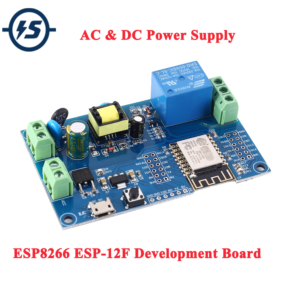 ESP8266 ESP-12F Relay Module AC 220V DC 12V WIFI Relay Switch ESP-12F Remote Control Smart Home