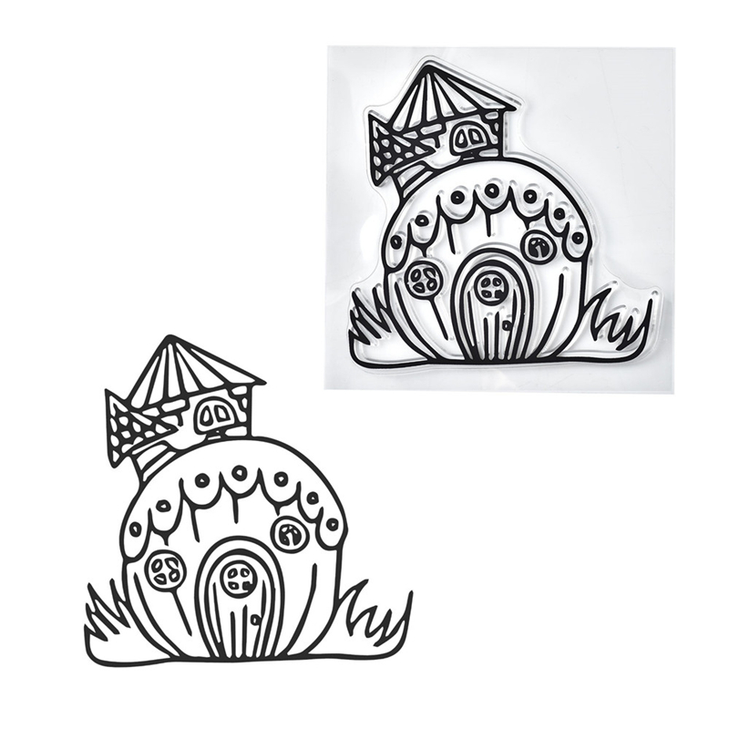 Mushroom House Clear Stamps 2019 Rubber Transparent Silicone Seal for DIY Scrapbooking Photo Album Decorative Stamp Crafts