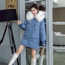 Women Winter Parkas Cotton Jacket 2019 New Large Size Thick Warm Coat Mid Long H