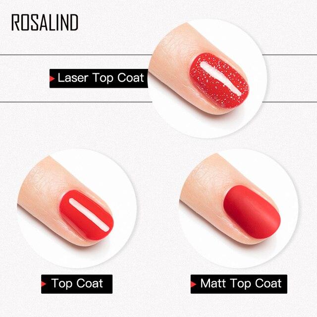ROSALIND Base Top Primer Matt Gel Nail Polish Semi Permanent Nail Art Foundation Gel Reinforce No Wipe Gel Long Lasting Lacquer 4
