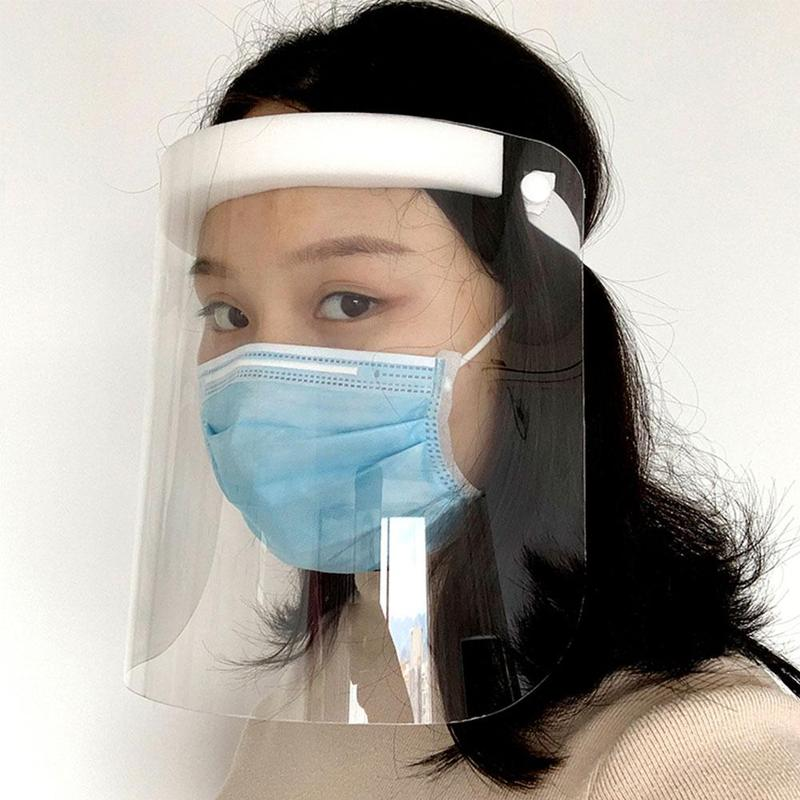 Protective Mask Hat Face Mouth Droplets Spit Protection Full Face Anti-fog Mask Face Mask Hat With Protective Sponge Strip