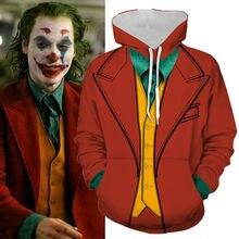 Anime Hoodie Sweatshirt Movie Joker Cosplay Costume Batman Clown Hoodie Jacket C