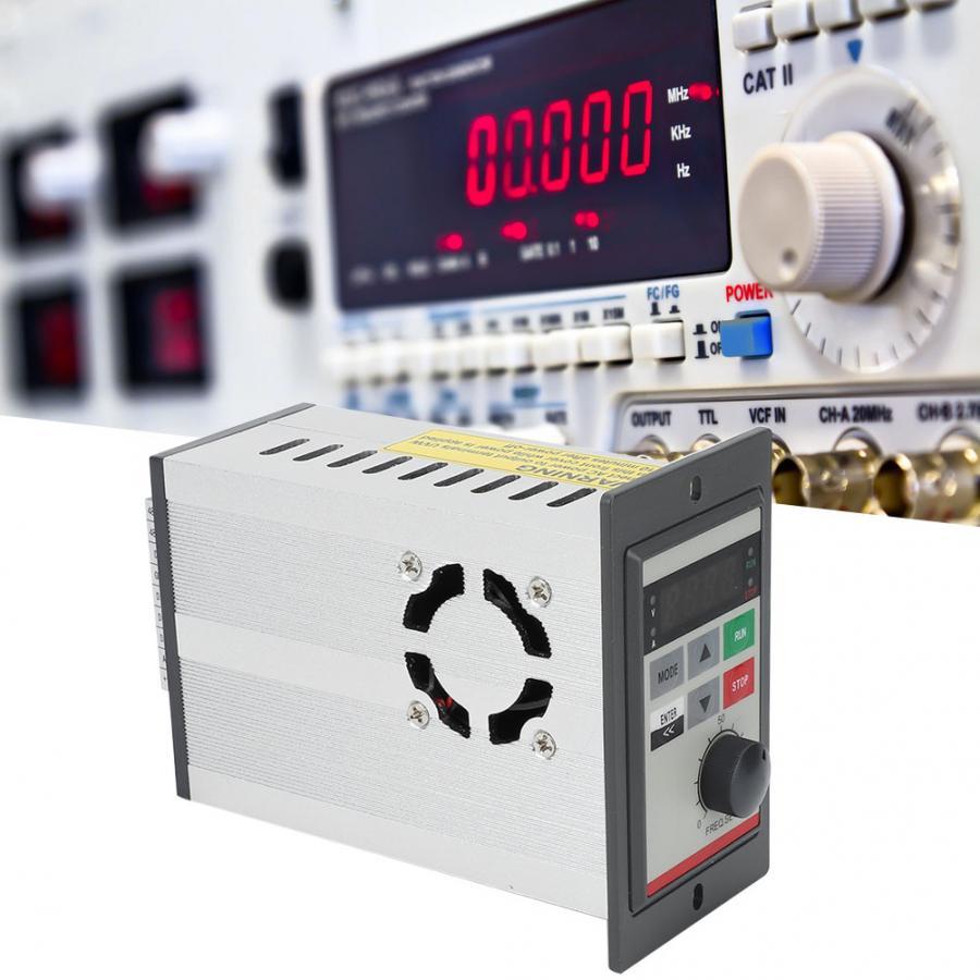 Inversor de frecuencia monofásico 0.75KW 220V Micro VFD convertidor de frecuencia Variable V/F circuito cerrado controlador de velocidad del motor 4-Canal Digital transceptor óptico video-fibra de modo único convertidor de fibra óptica FC 20KM