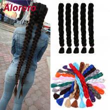 Alororo чистые плетеные волосы синтетические для наращивания