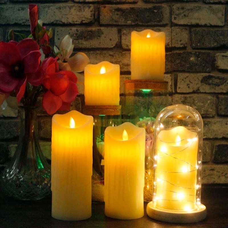 1 PC Creative LED Candle Multicolor Lamp Simulation Color Flame Tea Light Wedding Birthday Decor Tea Light Decoration