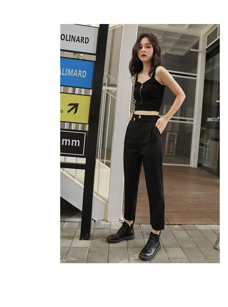 H42be8785b3b6432fbb032ab71a3dae73V - HELIAR Tops Women Crop Top Club Sexy Zipper Knitting Camisole With Hole Female Tank Tops Ladies Sleeveless Solid Strap Top Women