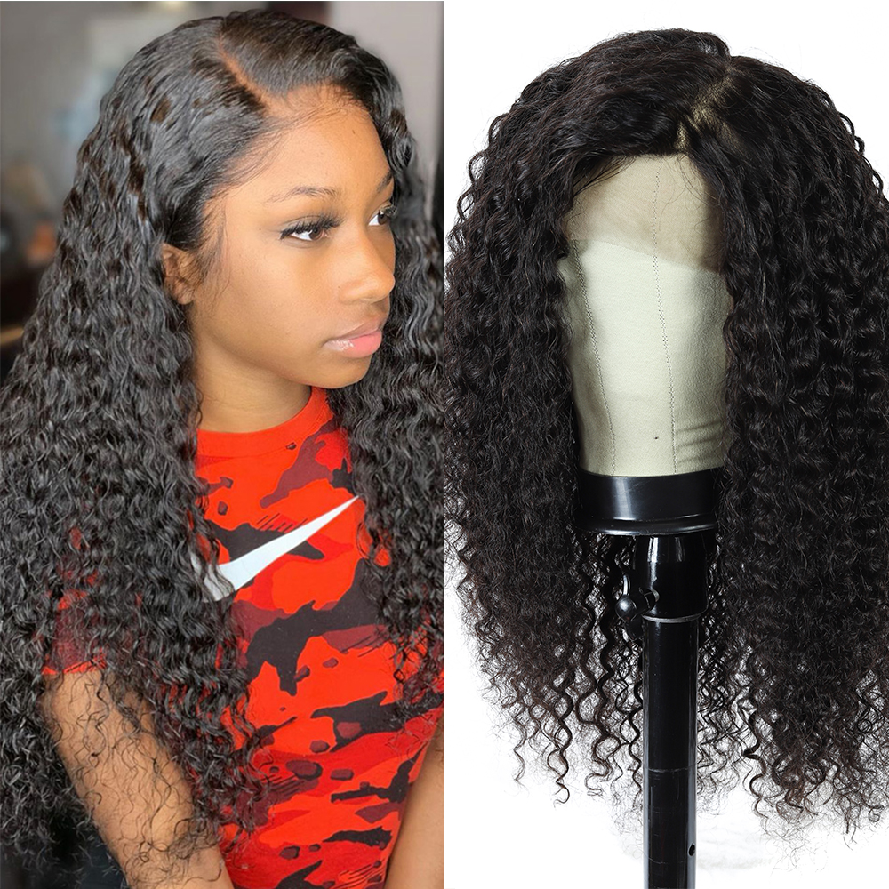 Curly Full Lace Human Hair Wigs Lace Front Human Hair Wigs For Women 10-28inch Jerry Curly Pre Plucked Remy Frontal Wig 150%