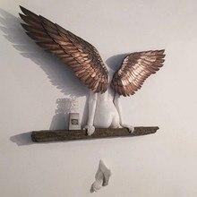 Statue d'art d'ange en 3D, décoration murale, pour salon, chambre à coucher, artisanat, ailes d'ange, 20cm