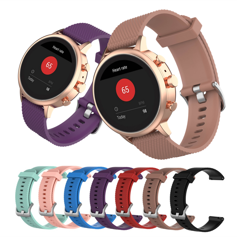 Colorful Soft Silicone Strap For Fossil Gen 4 / Venture HR / Charter HR / Women's Sport Smart Watch Band 18mm Bracelet Wristband